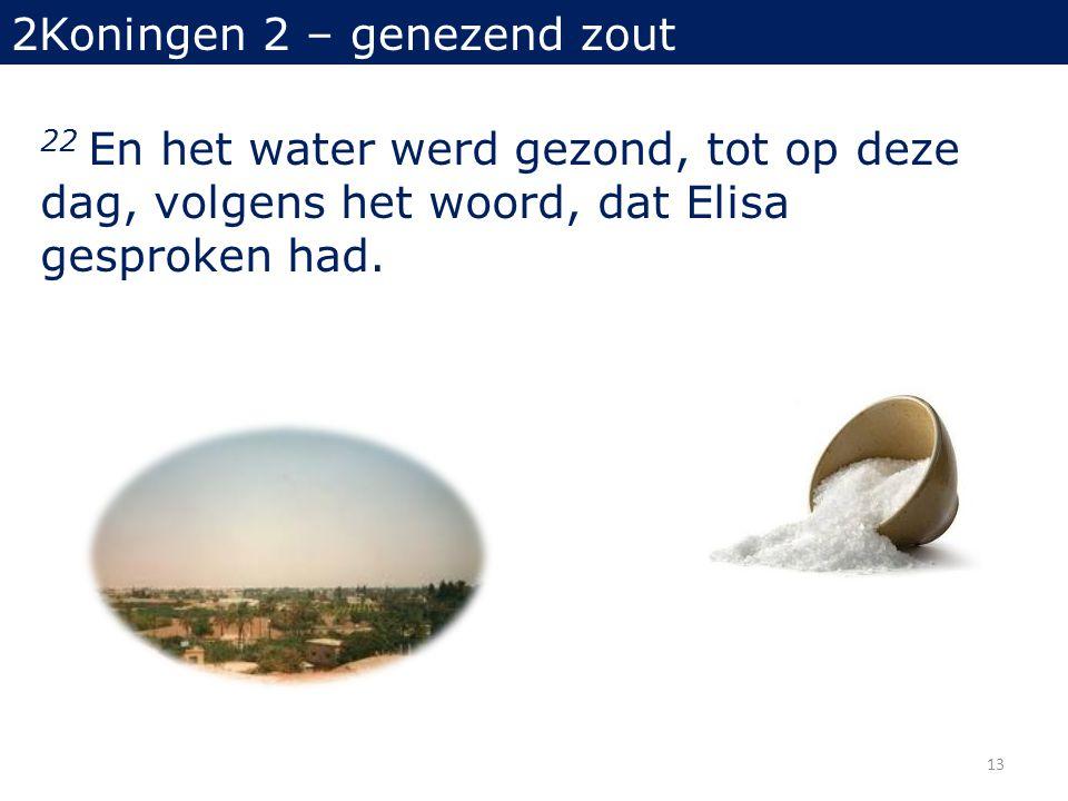 2Koningen 2 – genezend zout