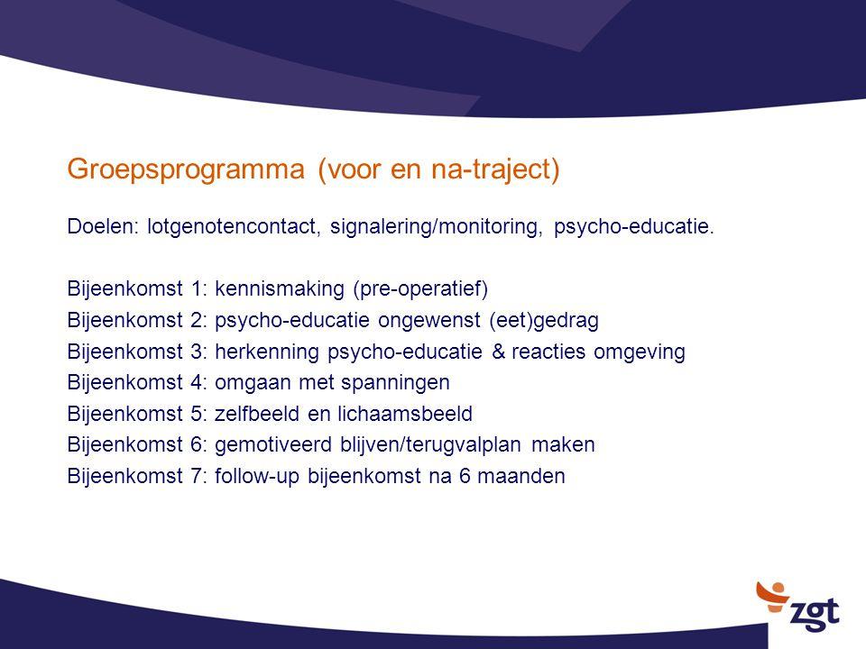 Groepsprogramma (voor en na-traject)