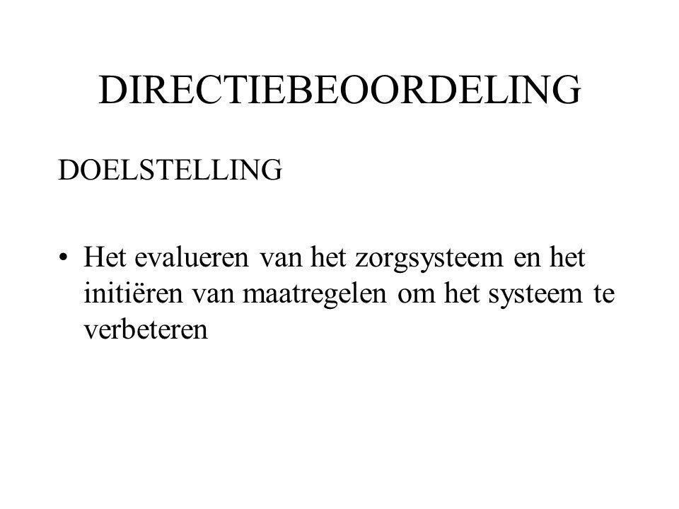DIRECTIEBEOORDELING DOELSTELLING