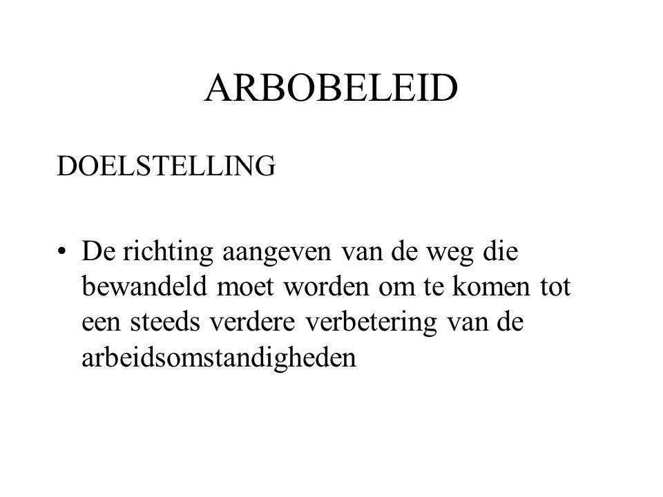 ARBOBELEID DOELSTELLING