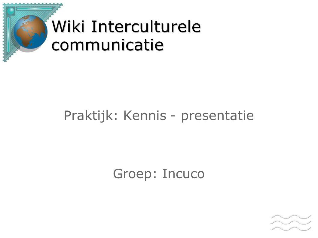 Wiki Interculturele communicatie