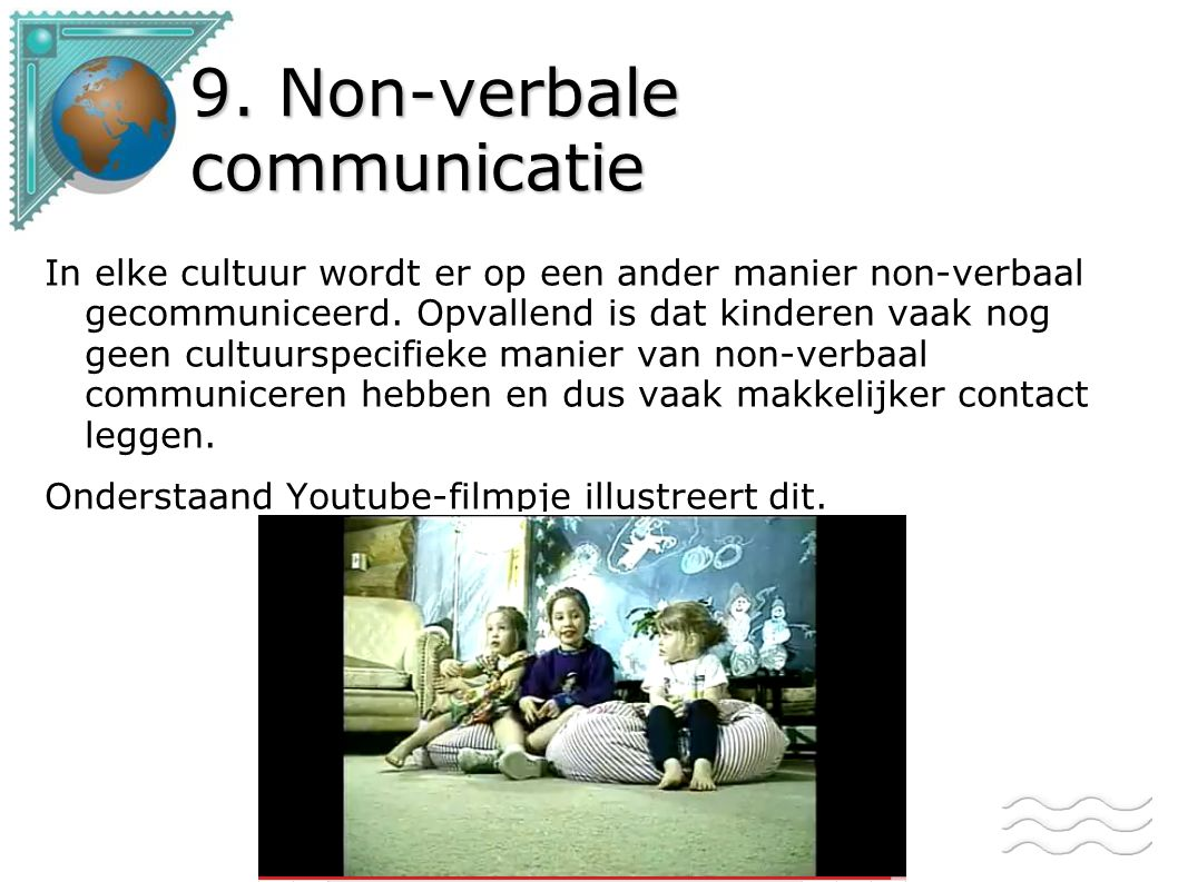 9. Non-verbale communicatie