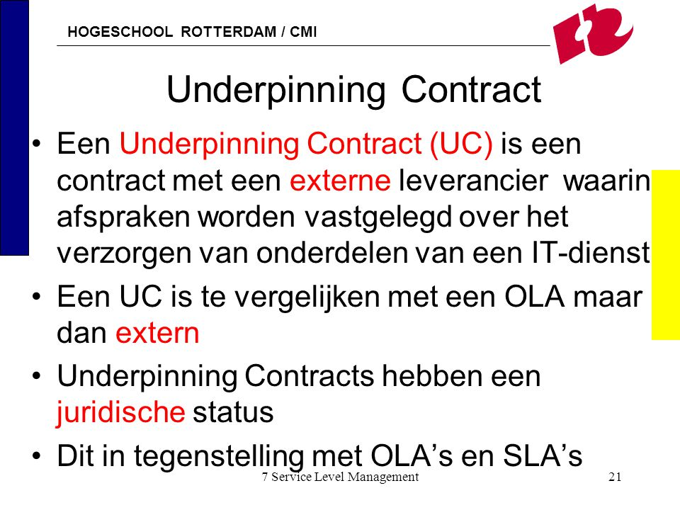Underpinning Contract
