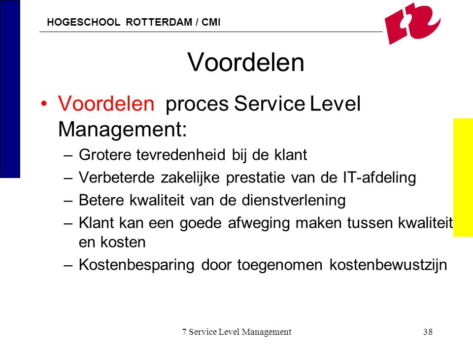 7 Service Level Management