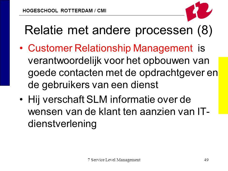 Relatie met andere processen (8)