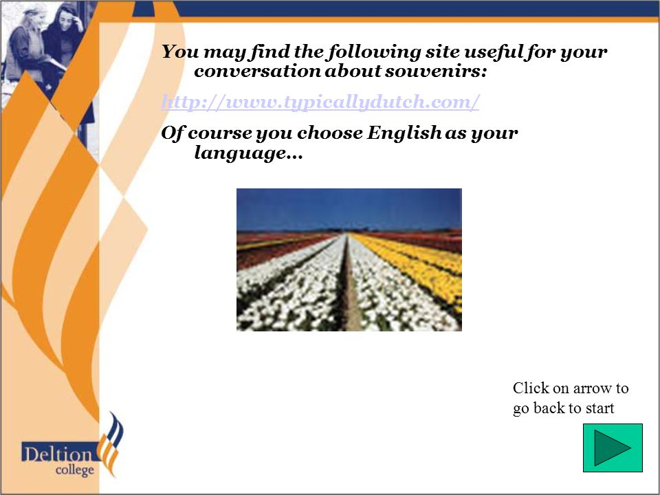 Of course you choose English as your language…