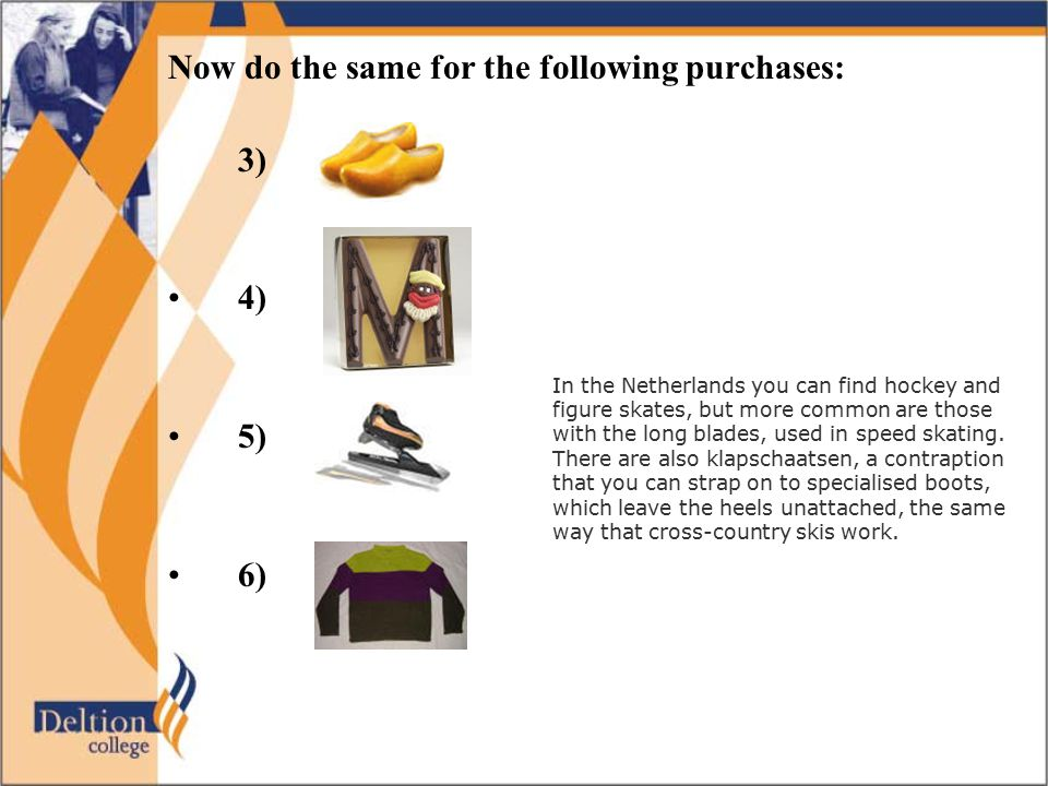 Now do the same for the following purchases: 3)