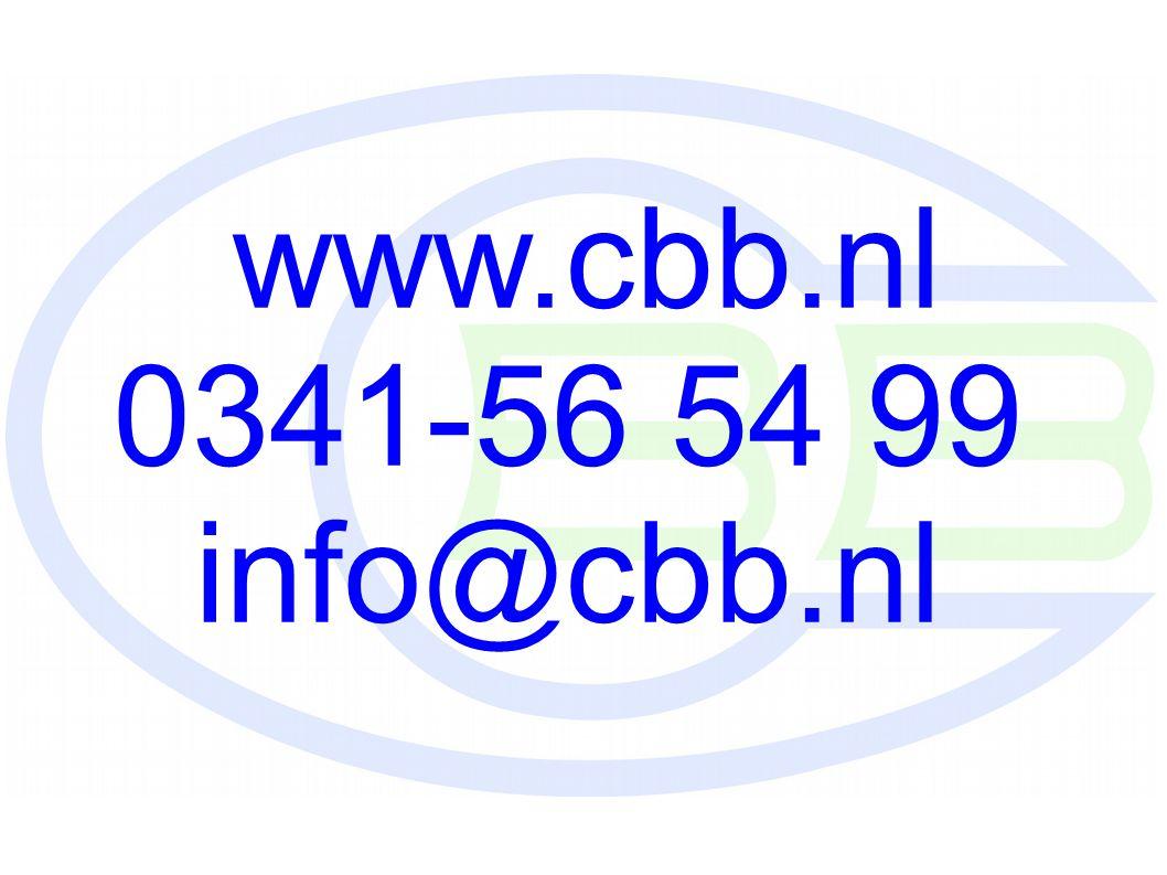 www.cbb.nl 0341-56 54 99 info@cbb.nl