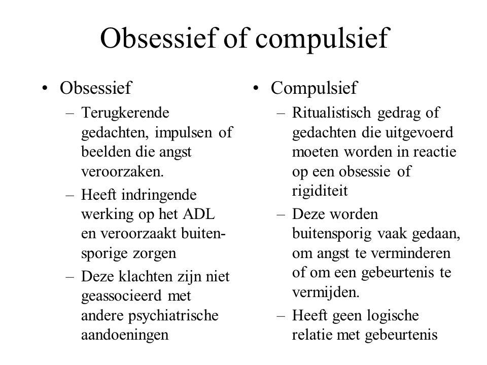 Obsessief of compulsief