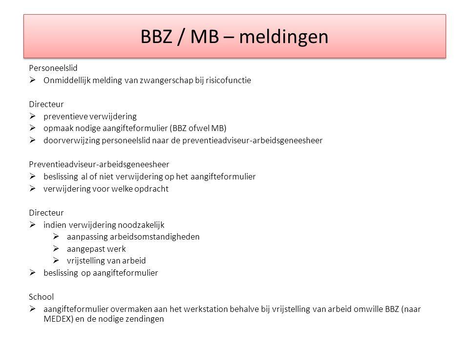 BBZ / MB – meldingen Personeelslid