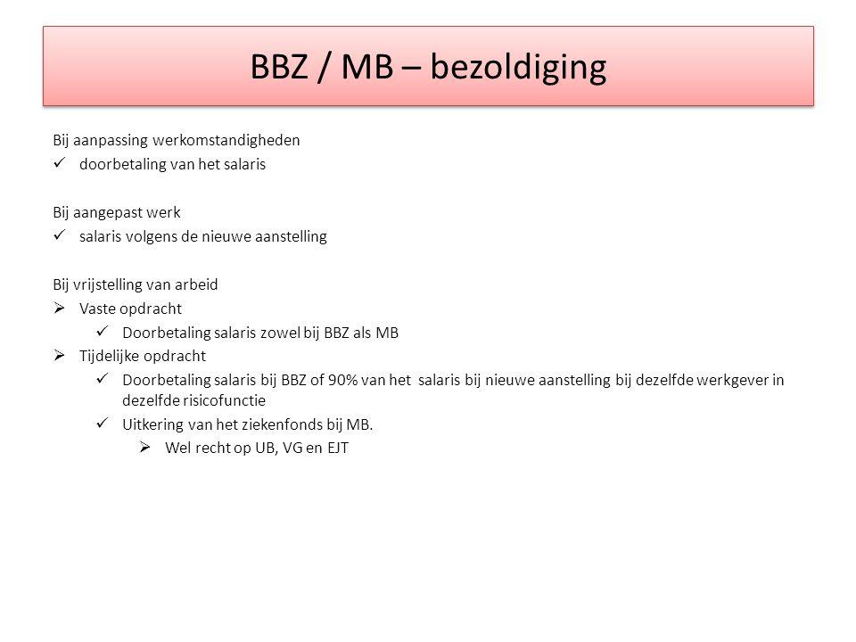 BBZ / MB – bezoldiging Bij aanpassing werkomstandigheden