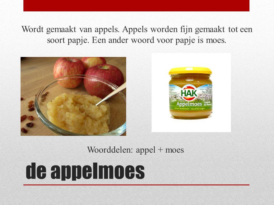 Woorddelen: appel + moes