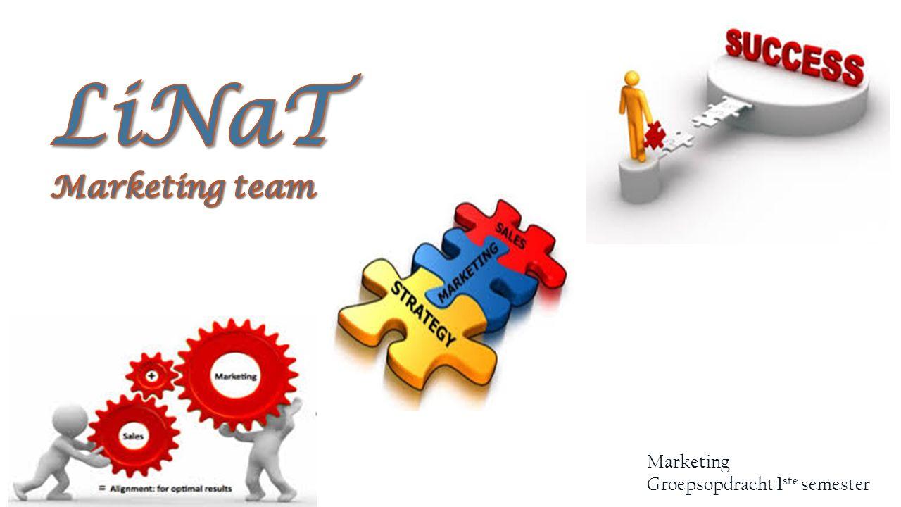 LiNaT Marketing team Marketing Groepsopdracht 1ste semester