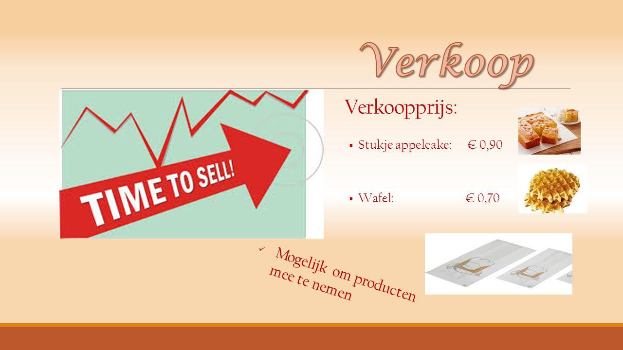 Verkoop Mogelijk om producten mee te nemen Verkoopprijs: