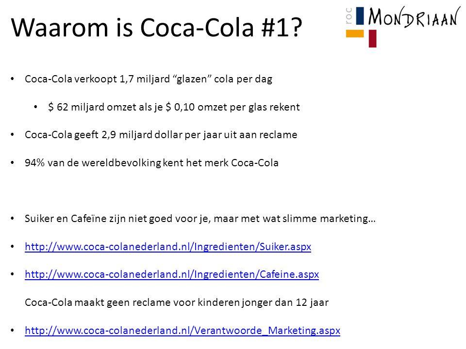 Waarom is Coca-Cola #1 Coca-Cola verkoopt 1,7 miljard glazen cola per dag. $ 62 miljard omzet als je $ 0,10 omzet per glas rekent.