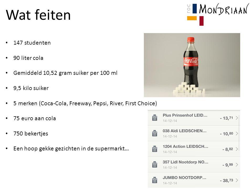 Wat feiten 147 studenten 90 liter cola