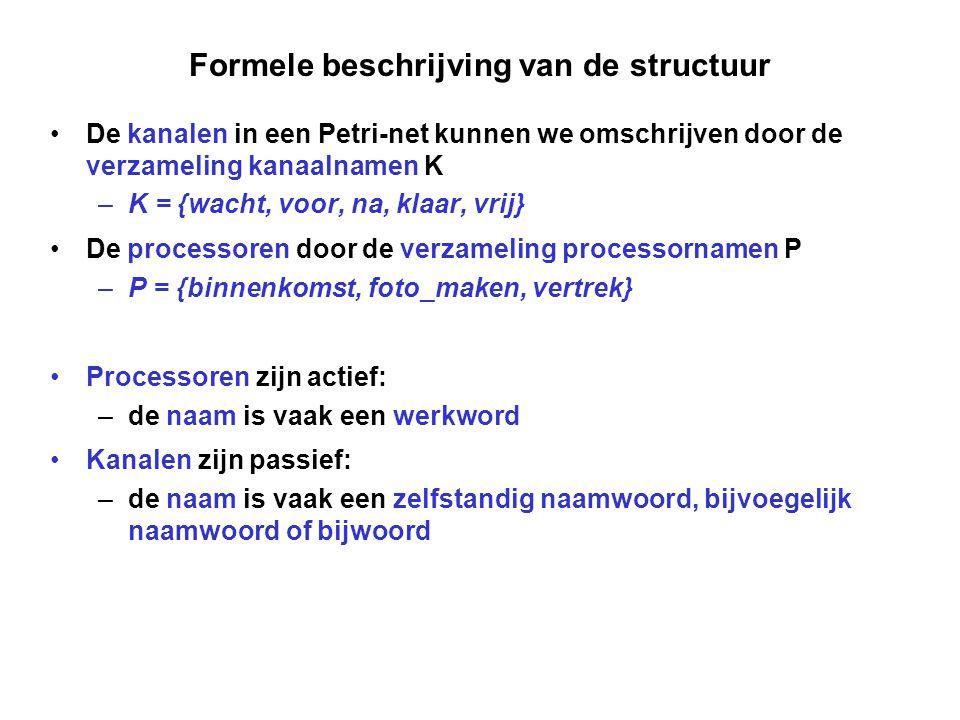 Formele beschrijving van de structuur