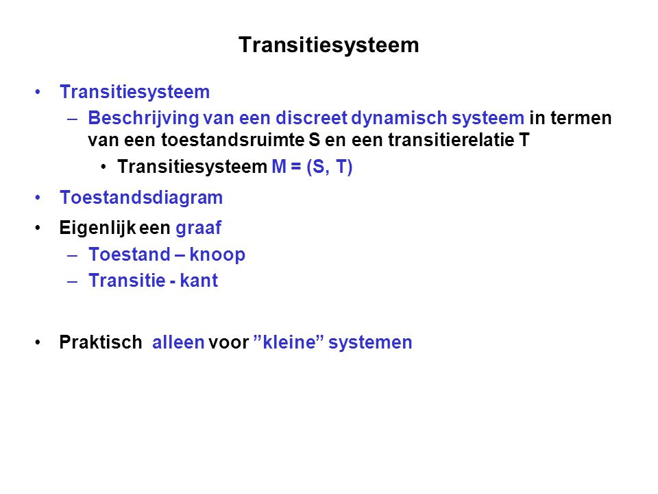 Transitiesysteem Transitiesysteem