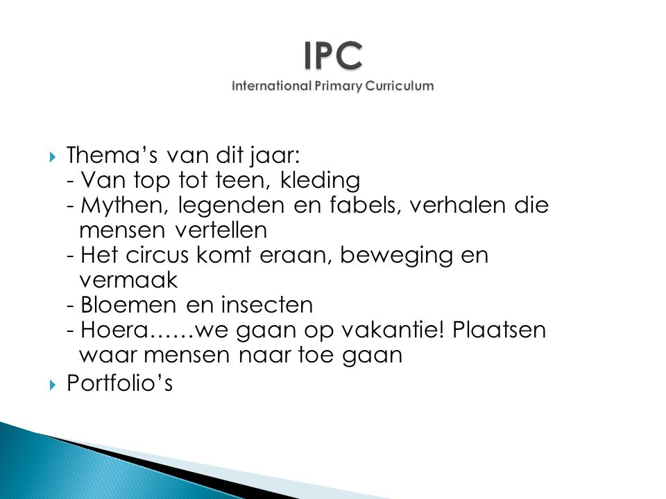 IPC International Primary Curriculum