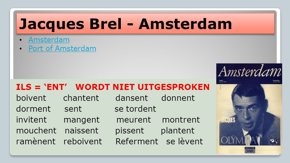 Jacques Brel - Amsterdam