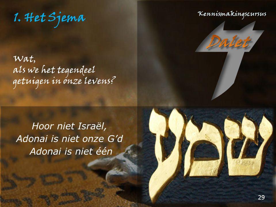 Hoor niet Israël, Adonai is niet onze G'd Adonai is niet één
