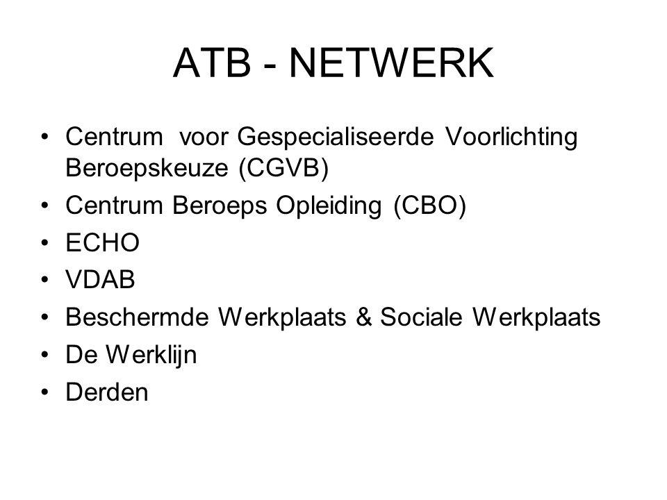 ATB - NETWERK Centrum voor Gespecialiseerde Voorlichting Beroepskeuze (CGVB) Centrum Beroeps Opleiding (CBO)