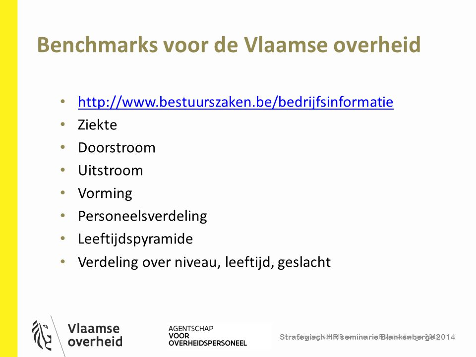Benchmarks voor de Vlaamse overheid