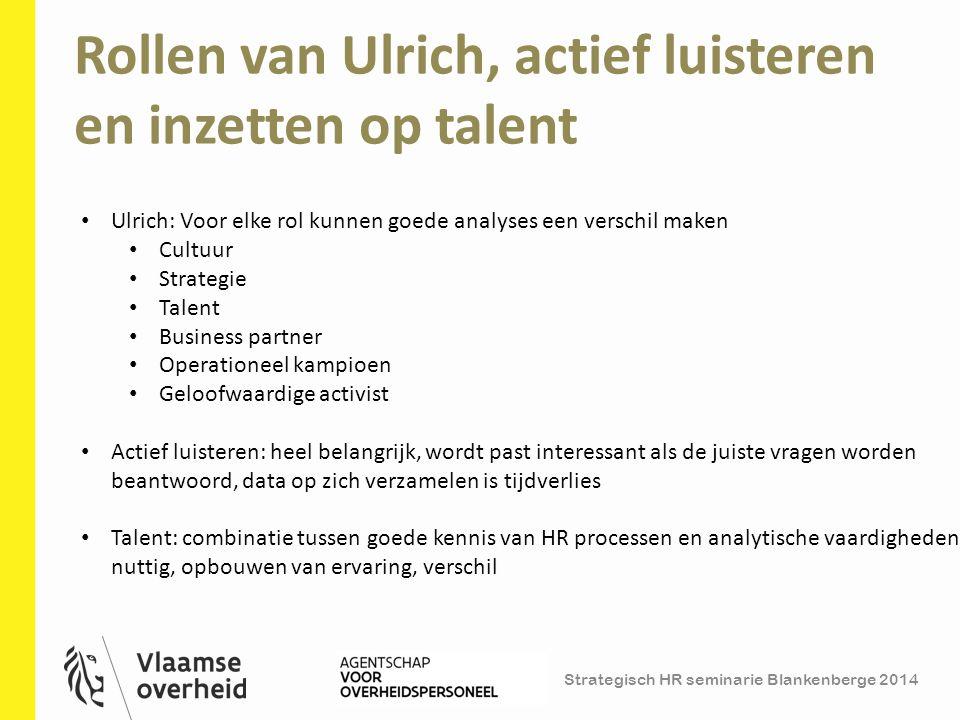 Rollen van Ulrich, actief luisteren en inzetten op talent