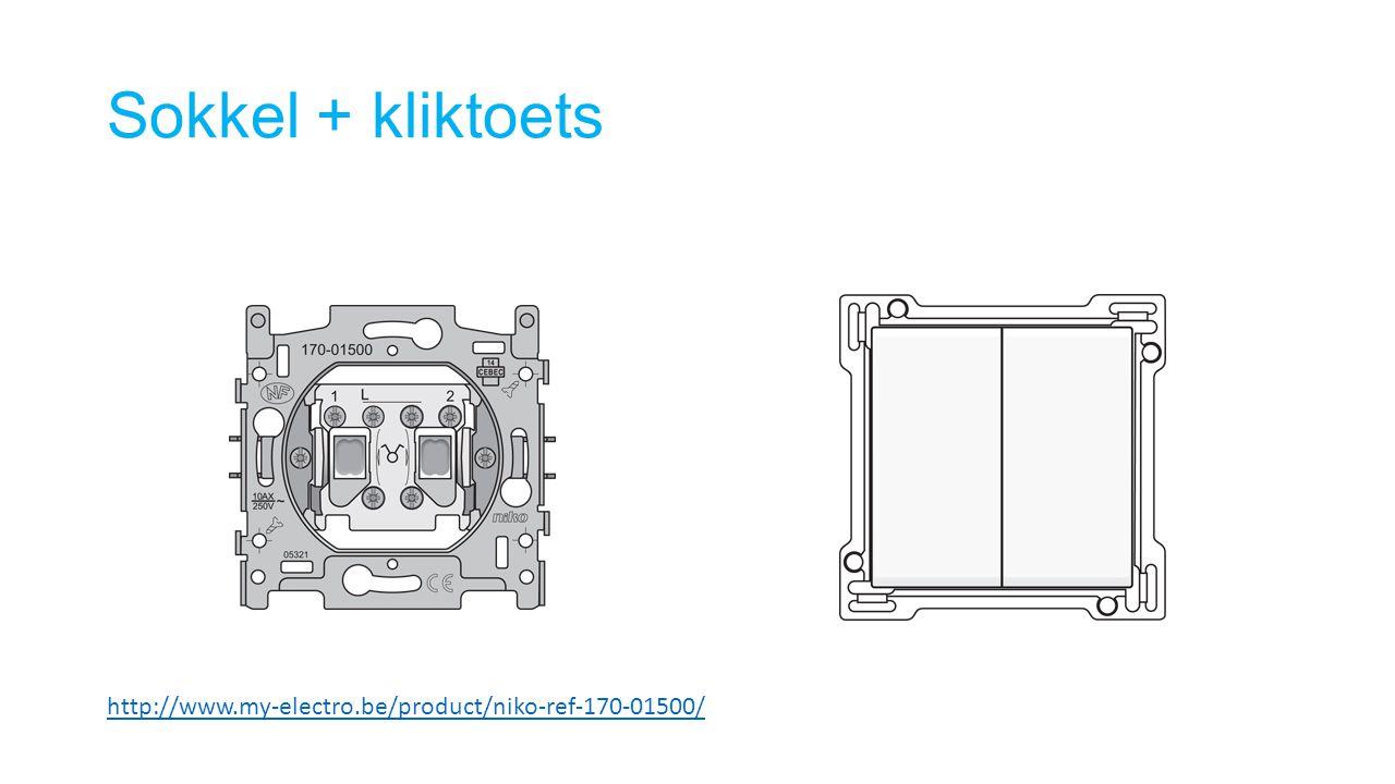 Sokkel + kliktoets http://www.my-electro.be/product/niko-ref-170-01500/