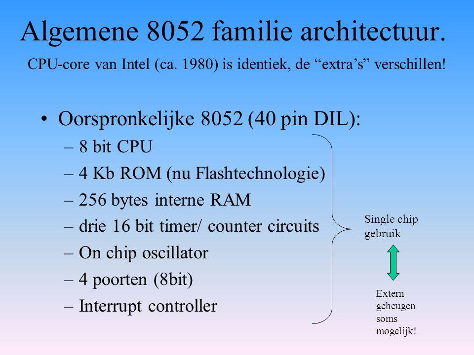 Algemene 8052 familie architectuur.