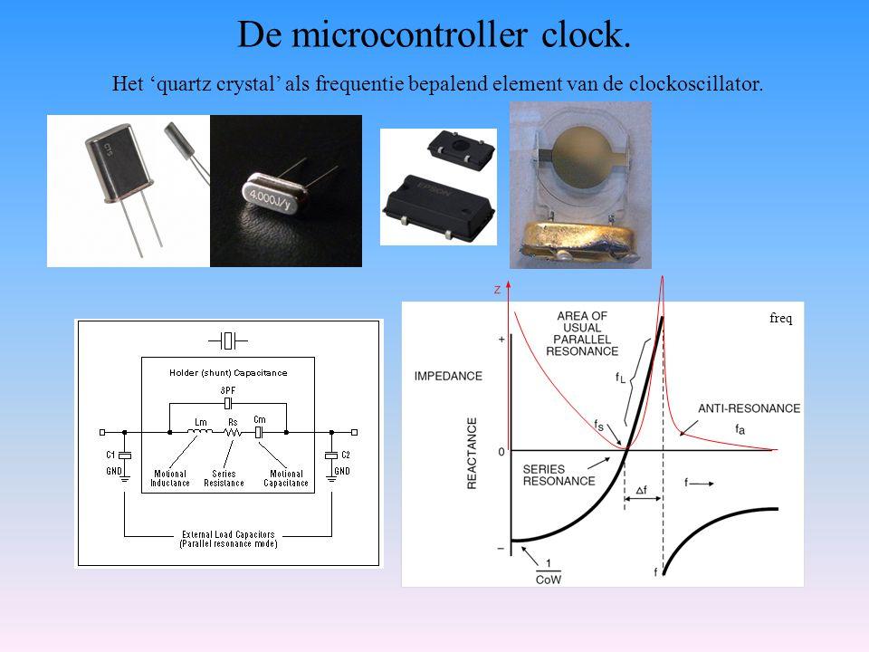 De microcontroller clock.
