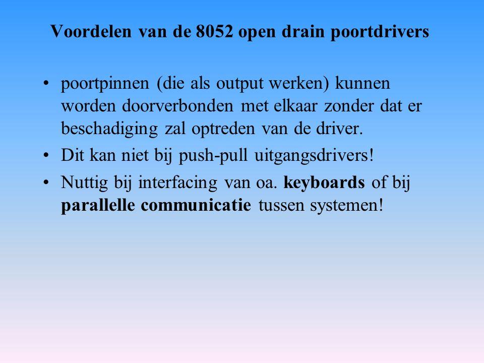 Voordelen van de 8052 open drain poortdrivers