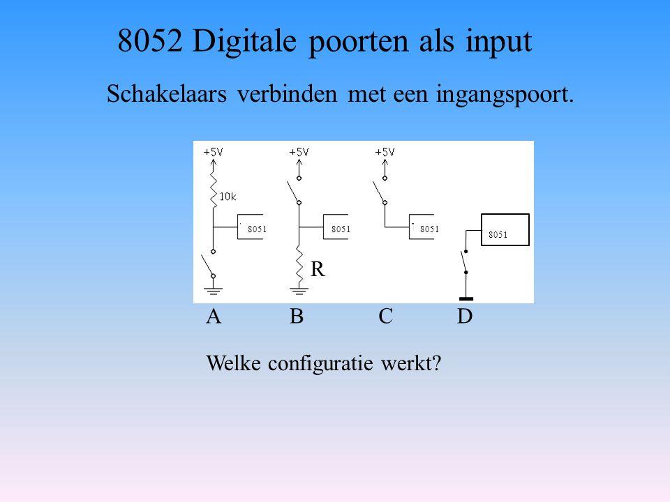 8052 Digitale poorten als input
