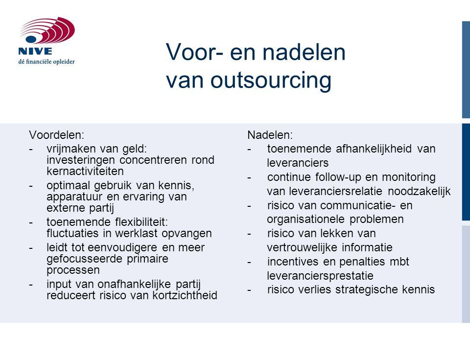 Voor- en nadelen van outsourcing