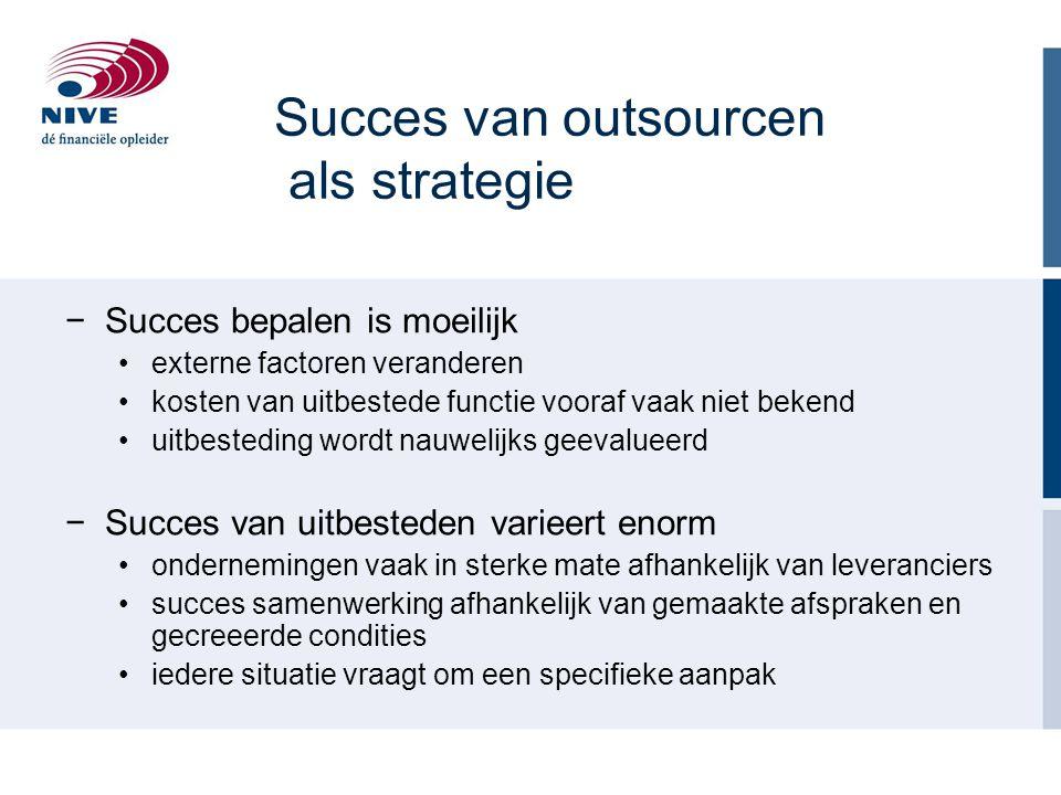 Succes van outsourcen als strategie