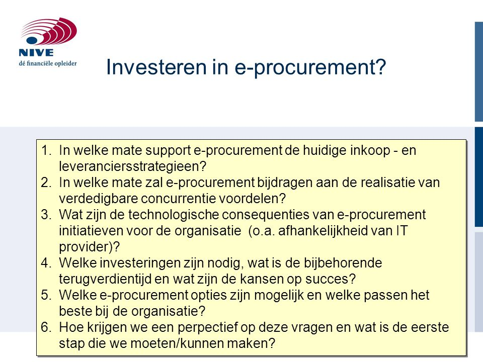 Investeren in e-procurement