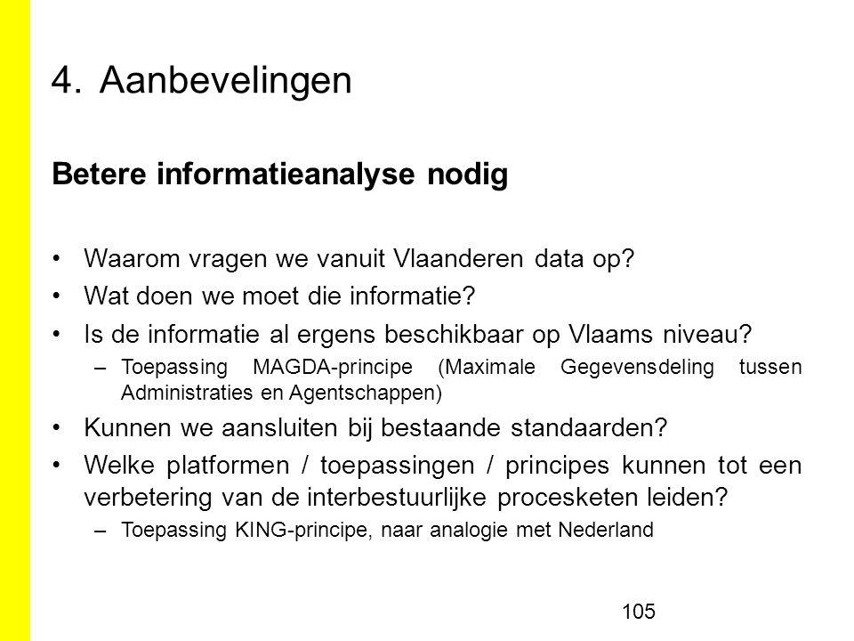 Aanbevelingen Betere informatieanalyse nodig