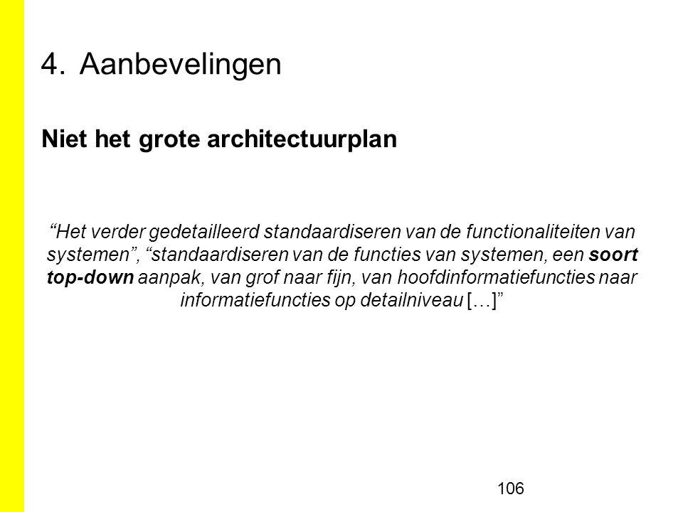 Aanbevelingen Niet het grote architectuurplan