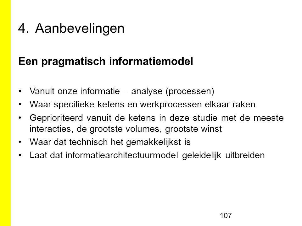 Aanbevelingen Een pragmatisch informatiemodel