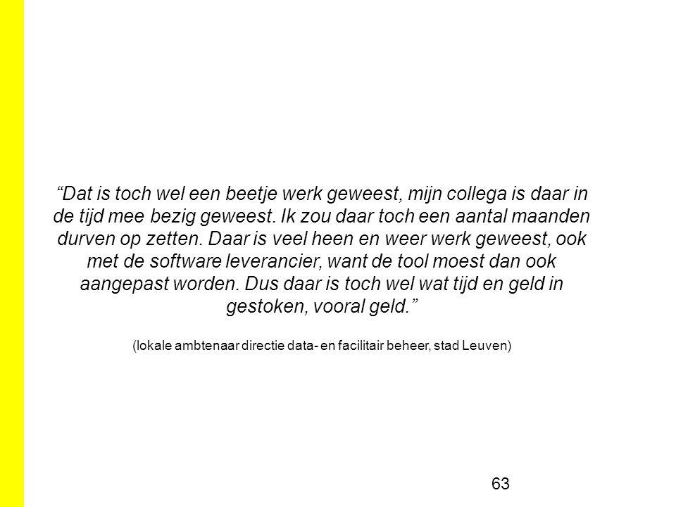 (lokale ambtenaar directie data- en facilitair beheer, stad Leuven)