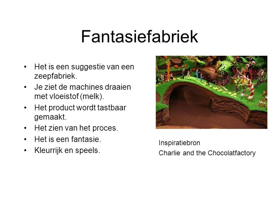 Fantasiefabriek Het is een suggestie van een zeepfabriek.