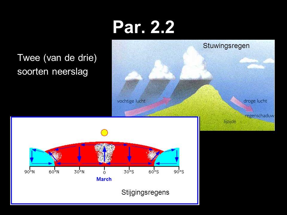 Par. 2.2 Twee (van de drie) soorten neerslag Stuwingsregen