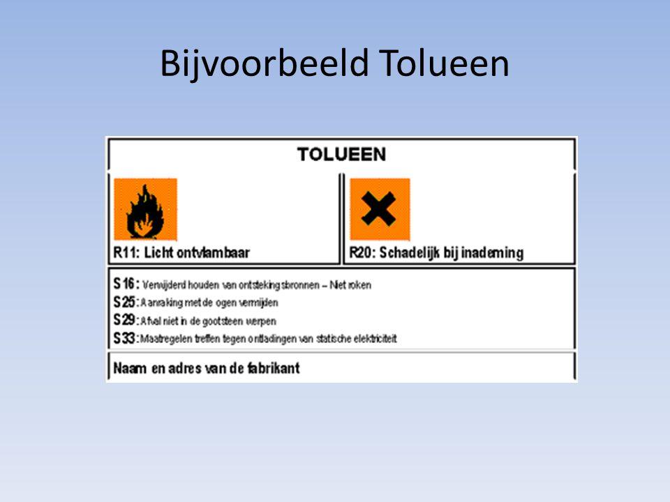 Bijvoorbeeld Tolueen