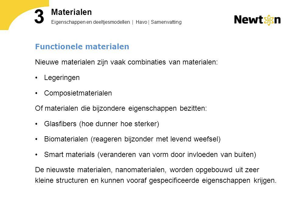 3 Materialen Functionele materialen