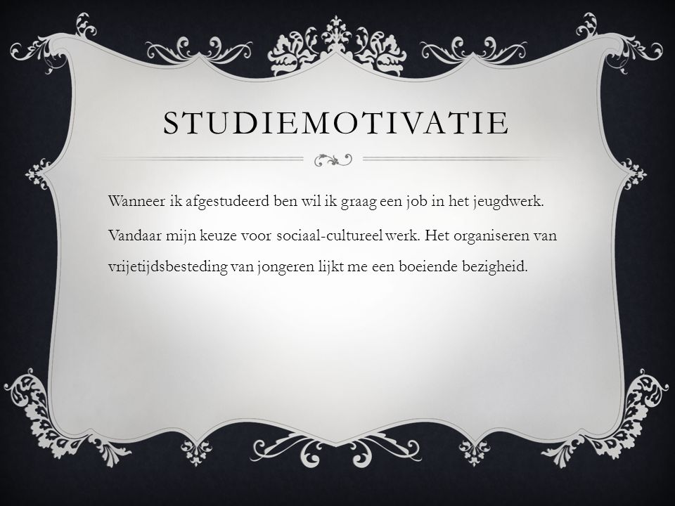 Studiemotivatie