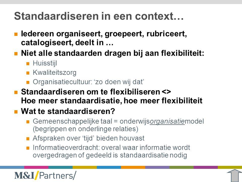 Standaardiseren in een context…