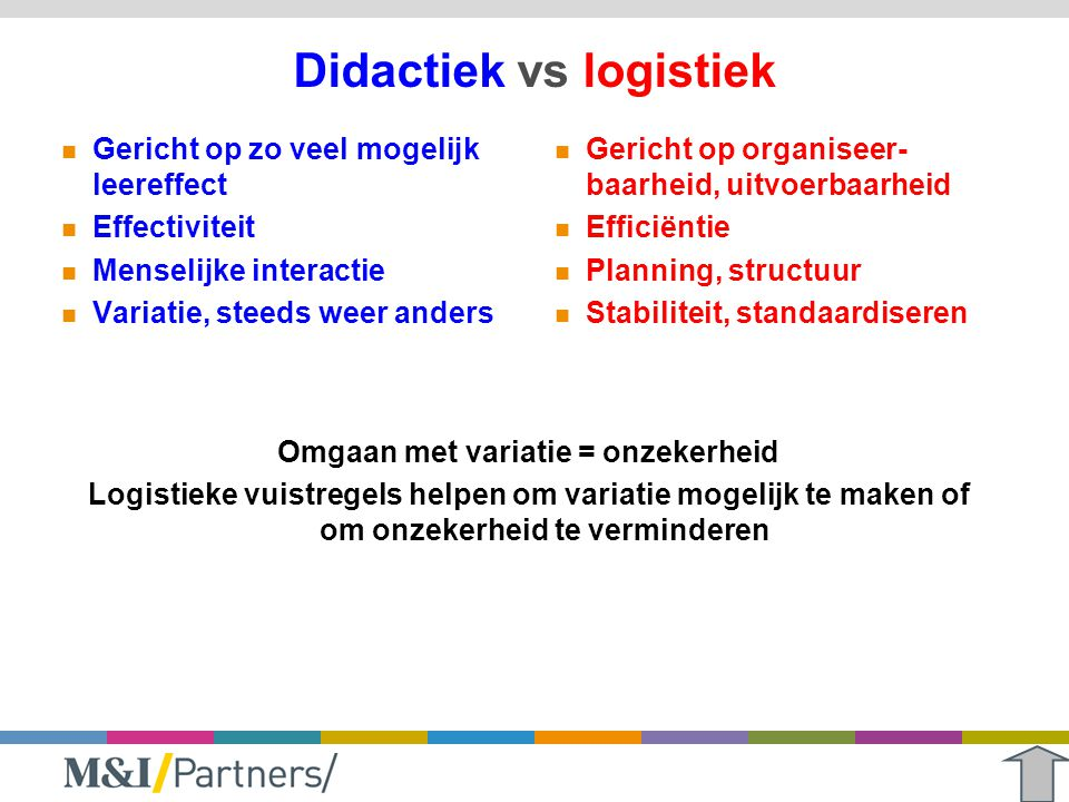 Didactiek vs logistiek