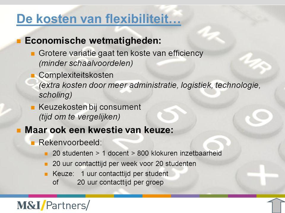 De kosten van flexibiliteit…