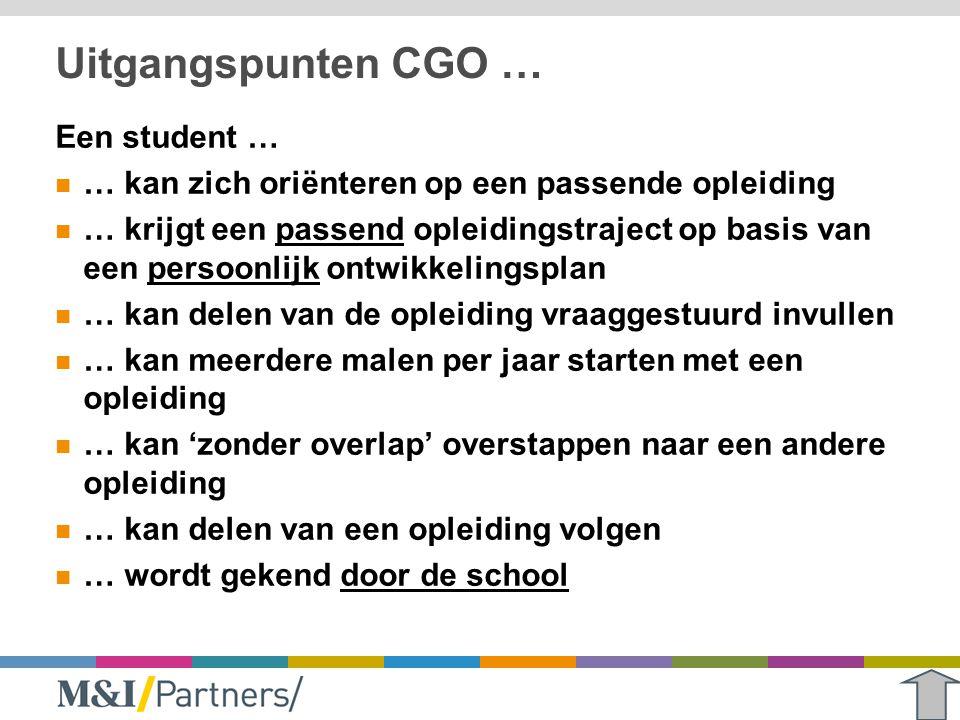 Uitgangspunten CGO … Een student …