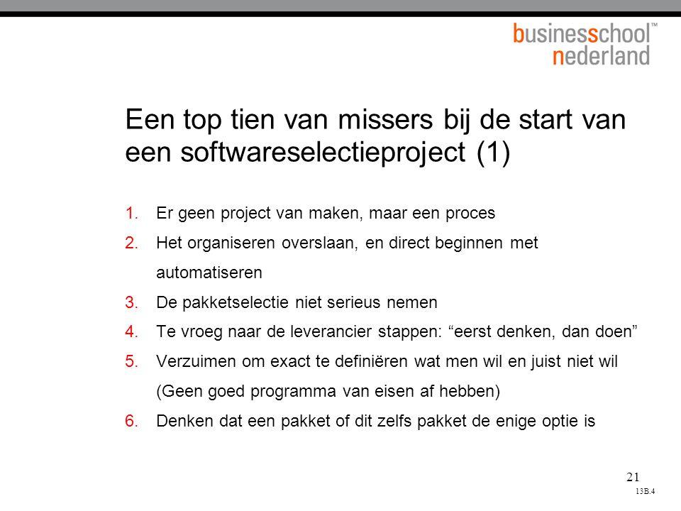 Een top tien van missers bij de start van een softwareselectieproject (1)